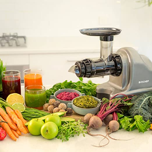 BioChef Axis Cold Press Juicer - Extractor de zumo horizontal ...