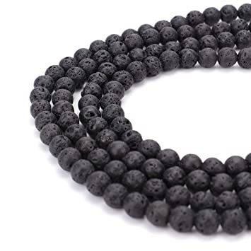 Beads Beads & Jewelry Making Shop For Cheap 1pack Essential Oil Natural Lava Rock Stone Beads Diy Making Necklace Bracelet White Black Natural Volcanic-stone Beads Jewelry