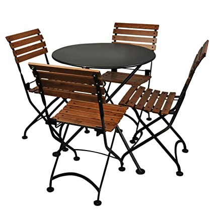Magnificent Amazon Com Mobel Designhaus 5 Piece French Cafe Bistro Caraccident5 Cool Chair Designs And Ideas Caraccident5Info