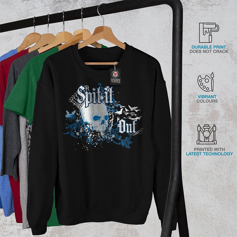 Death Casual Jumper wellcoda Spit It Out Queen Skull Mens Sweatshirt