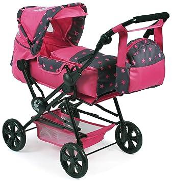 Amazon.es: Bayer Chic 2000 562 82 Carrito de muñecas Roadstar, Estrellas Rosa: Juguetes y juegos