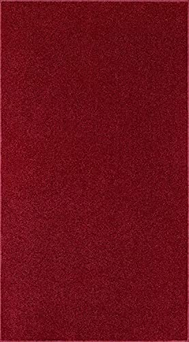 Home Queen Kids Solid Color Burgundy Area Rug – 3 x5