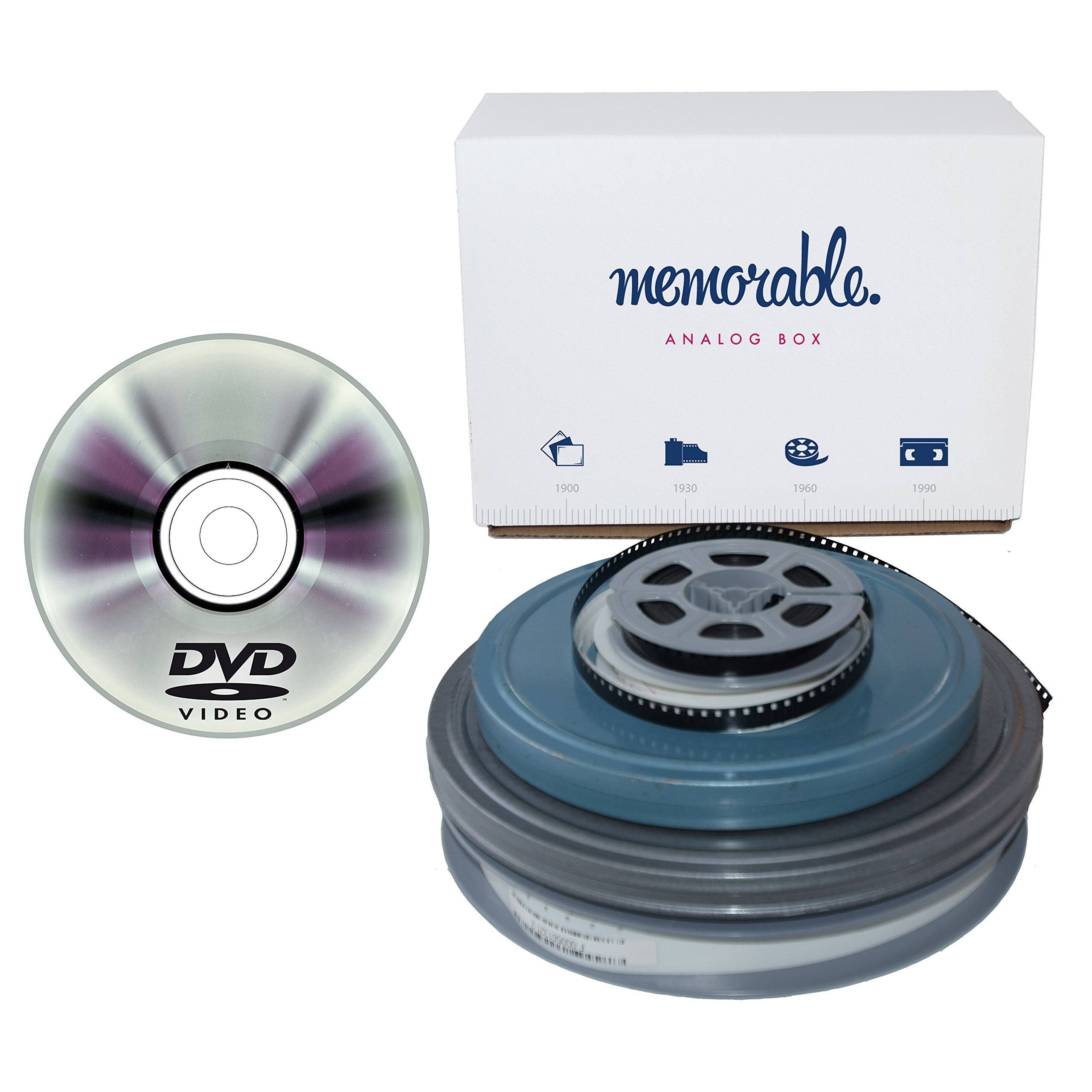Memorable Film Transfer Service (8mm, Super 8, 16mm) to DVD - 4 Reels by Memorable