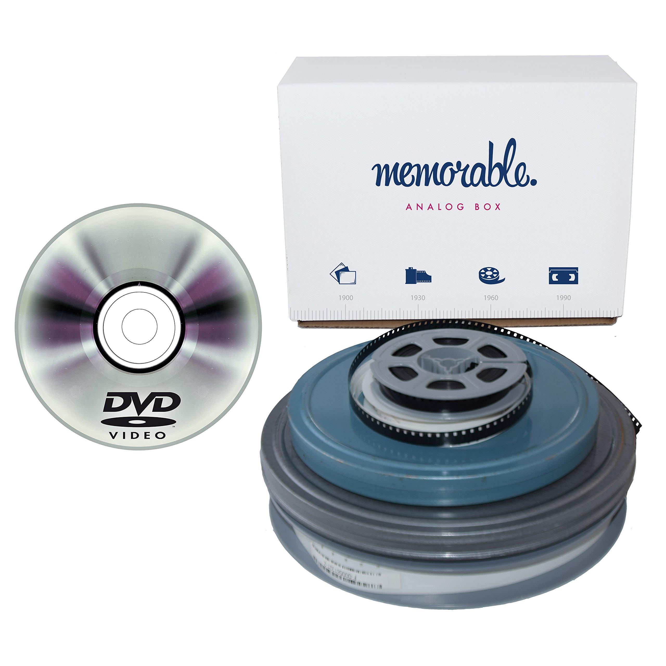 memorable Film Transfer Service (8mm, Super 8, 16mm) to DVD - 50 Reels by Memorable