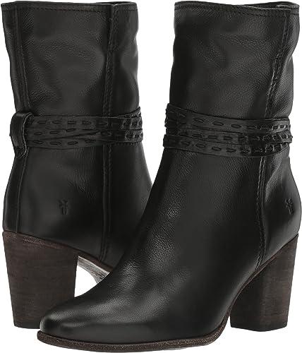 Frye Women's Naomi Pickstitch Mid Black Soft Vintage Bovine Boot