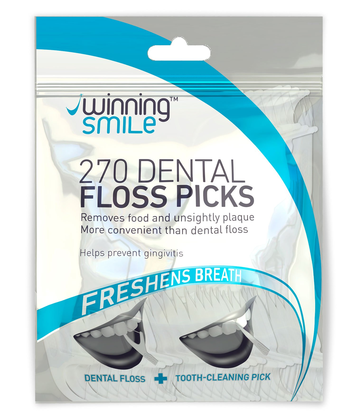 Floss Picks - High Quality Disposable Dental Flossers - The Perfect Pick for Adults and Kids with Braces - Pack of 270 Tooth Flossing Tools