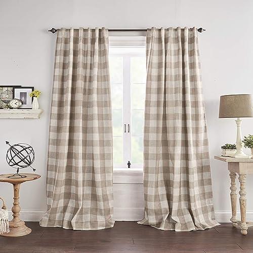 Elrene Home Fashions Grainger Buffalo Check Blackout Window Curtain Panel