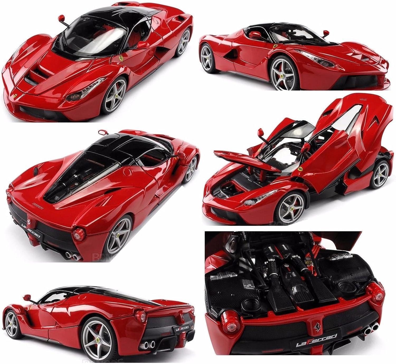 Amazon Com Bburago 1 18 Ferrari Signature Series Laferrari Diecast Car Red 18 16901rd Toys Games
