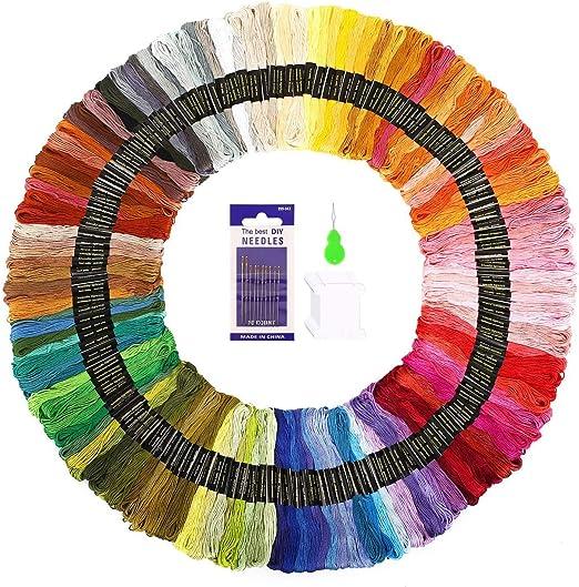 SOLEDI Hilo de Punto de Cruz 150 Tipos de Colores Bordados Hilo de ...