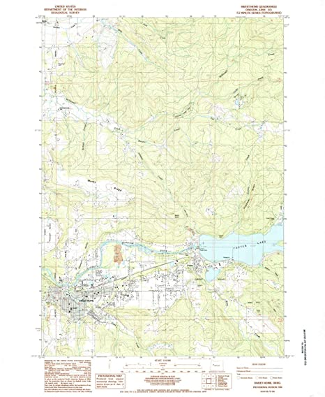 Amazon Com Yellowmaps Sweet Home Or Topo Map 1 24000 Scale 7 5 X
