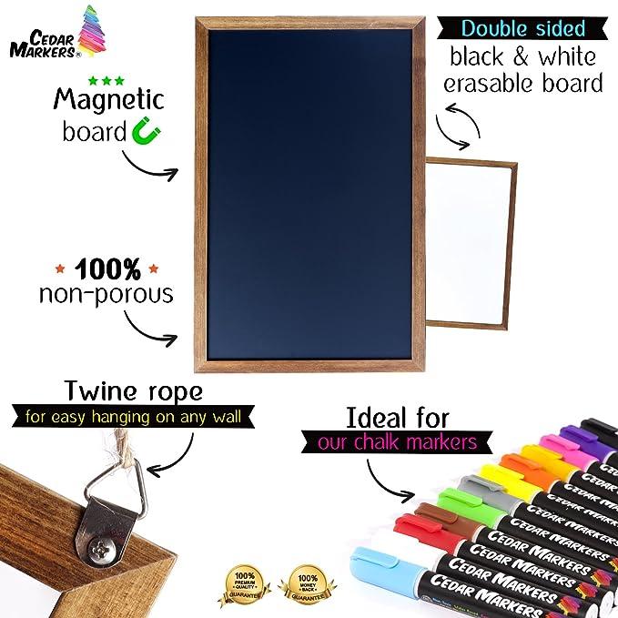 amazon com cedar markers 17 x11 chalkboard with wooden frame 100