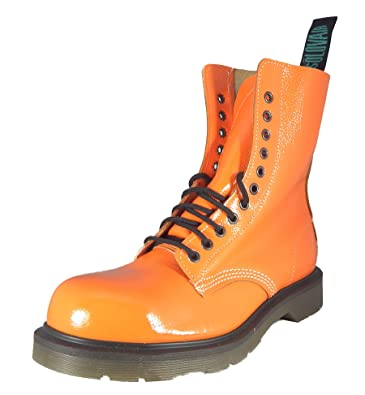 e190d55833d76 SOLOVAIR (England 11 Eyelet Fashion Steel Toe Leather Boots. Made In ...