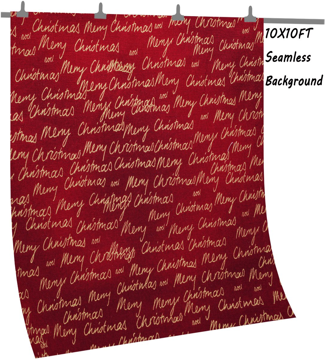 OUYIDA Christmas Theme 10X10FT Seamless CP Pictorial Cloth Photography Background Computer-Printed Vinyl Backdrop SD157 by OUYIDA (Image #2)