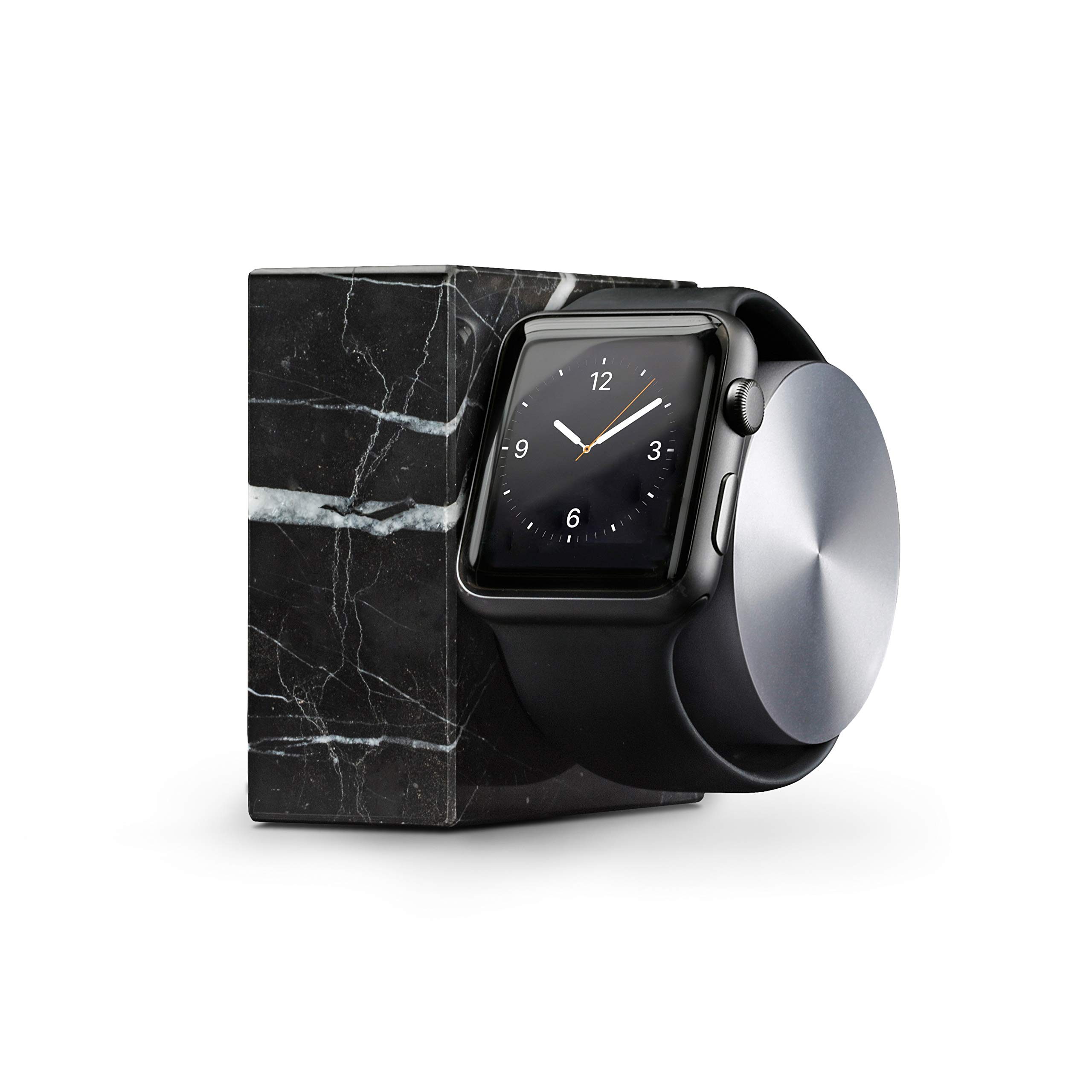 Native Union Dock (Luxury Tech) - Marble Weighted Charging Dock for Apple Watch (Black) by Native Union