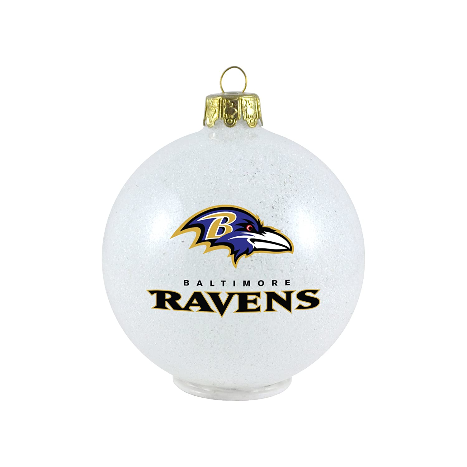 Amazon.com : NFL Baltimore Ravens LED Color Changing Ball Ornament ...