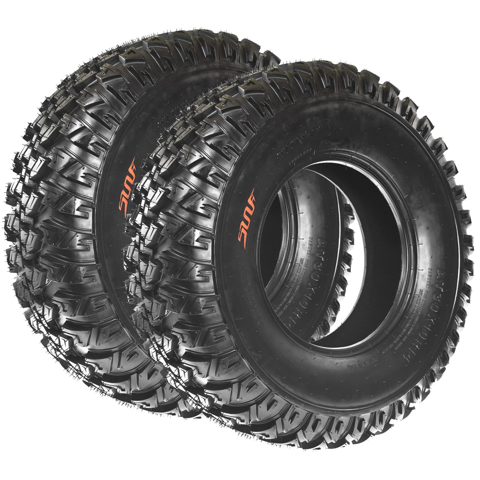 SunF A045 30x10R14 Radial ATV/UTV All-Terrain Off-Road Tires , 8 Ply Rated (Pair of 2)
