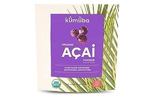 KUMUBA Organic Acai Powder, 4 Oz - Freeze-Dried   Antioxidants   Omega Fats   Superfood   gluten free   KUMUBA   Plant based