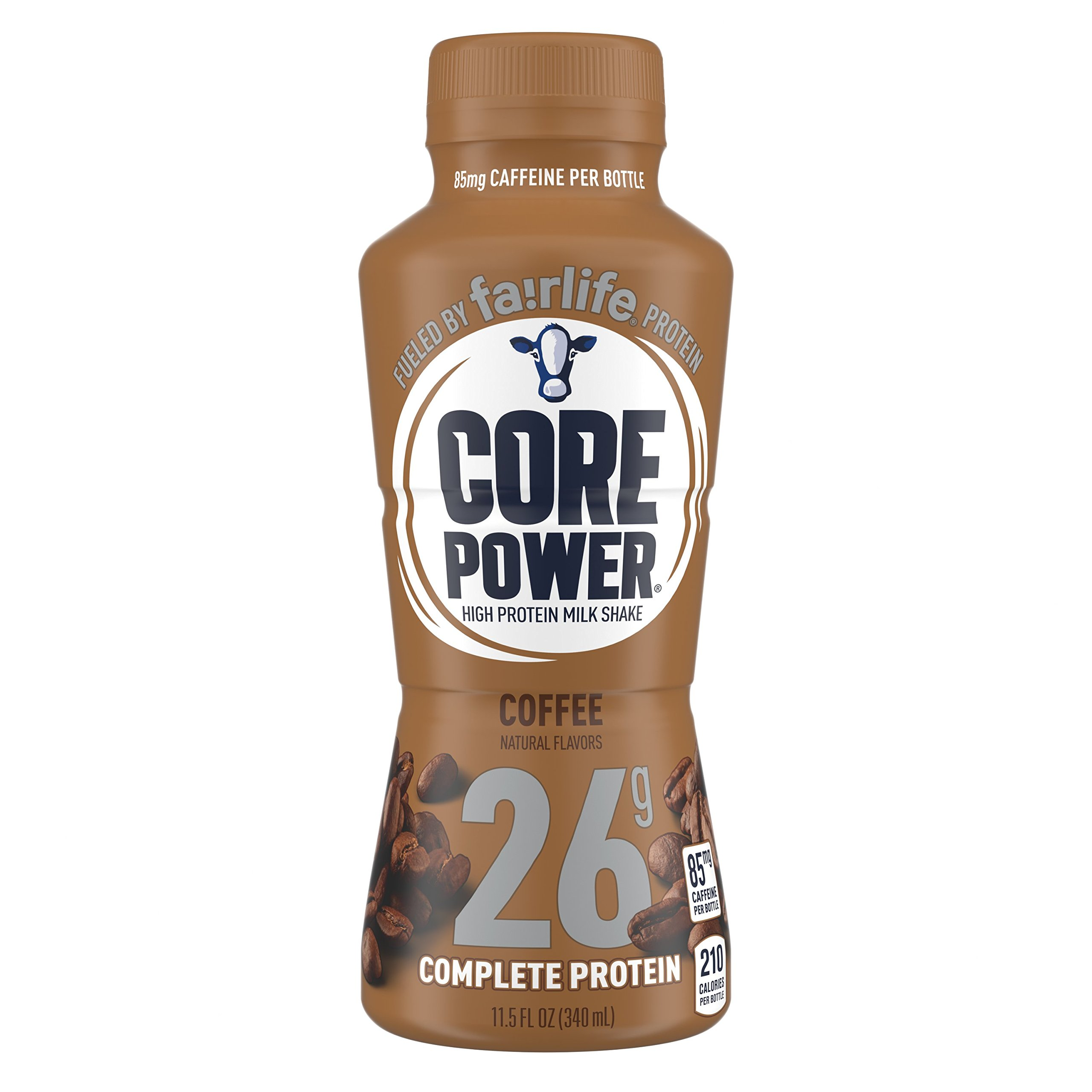 fairlife Core Power High Protein (26g) Milk Shake, Coffee, 85g Caffeine (Packaging May Vary), 11.5-ounce bottles, 12 Count