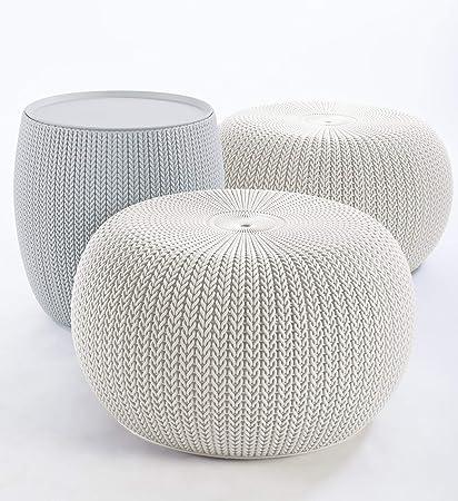 Amazon Keter 40 Urban Knit Pouf Set Cloudy GreyOasis Adorable Keter Outdoor Pouf