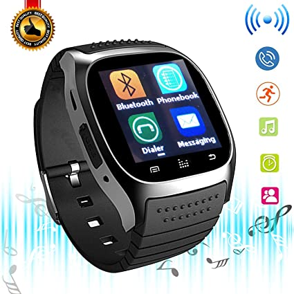 Bluetooth Smart Watch Touchscreen Smart Wrist Watch Fitness Tracker Camera Controller Phone Call Messages Reminder Smartwatch Compatible with Android ...