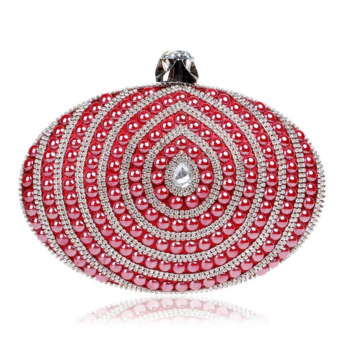 000000001 Frauen-Ellipsen-Abend-Partei-Beutel-Kupplungs-Geldbeutel-Handtasche (Farbe   rot) B07G1BBSJX Clutches Clutches Clutches Lassen Sie unsere Produkte in die Welt gehen fa2b32