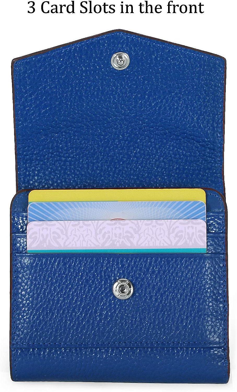 Ainimoer Women/'s RFID Bloquant en cuir Petit Compact Bi-Fold Zipper Pocket Walle