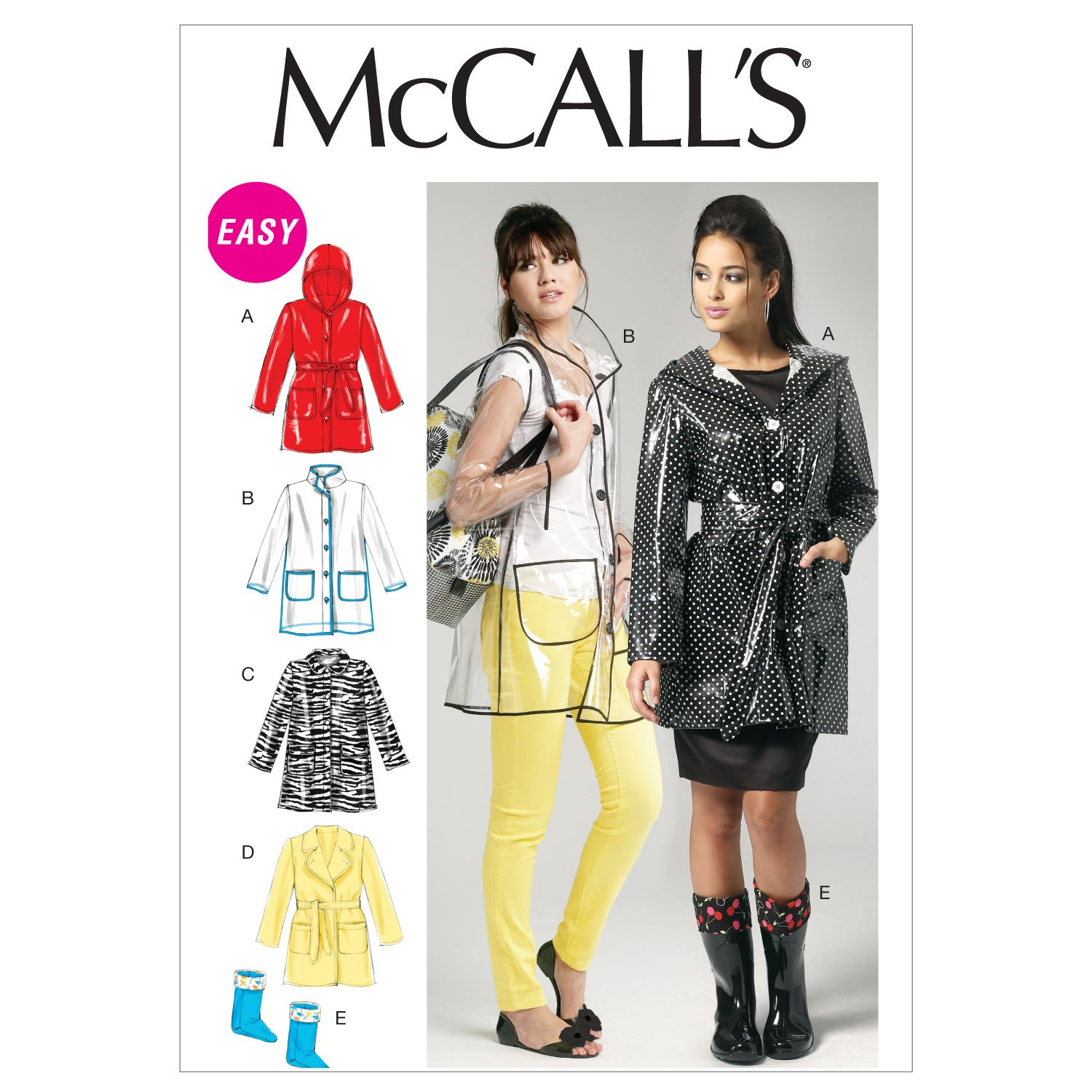 Amazon.com: McCall\'s Patterns M6517 Misses\' Jacket, Belt and Boot ...