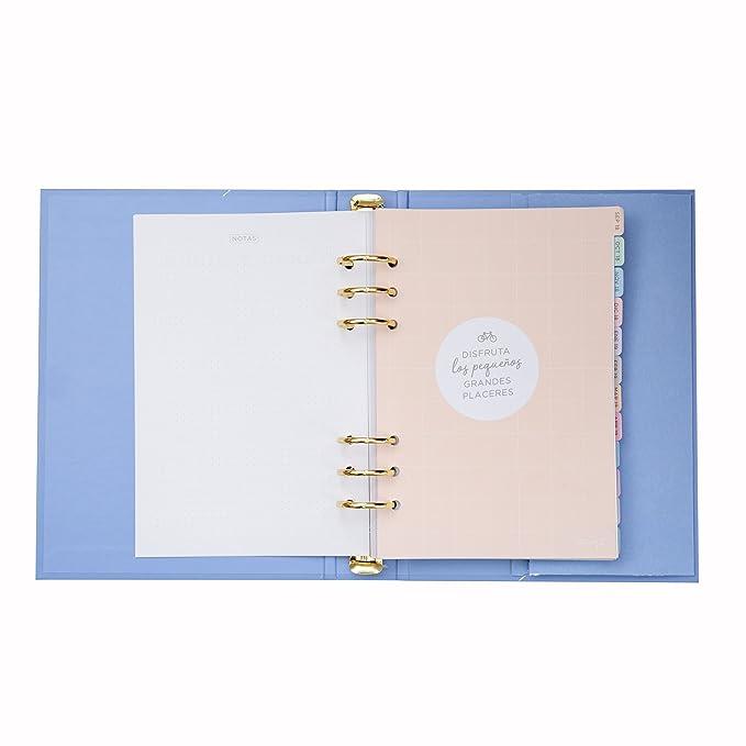 Mr. Wonderful - Agenda escolar azul con anillas 2018-2019 Semana vista - Antes de abrir café: Amazon.es: Oficina y papelería