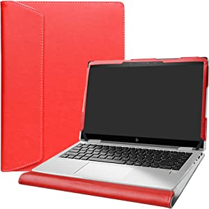 """Alapmk Protective Case Cover for 14"""" HP EliteBook x360 1040 G5/EliteBook x360 1040 G6/HP EliteBook 840 845 G7/HP ZBook Firefly 14 G7 Laptop[Not fit HP HP EliteBook x360 1040 G7],Red"""