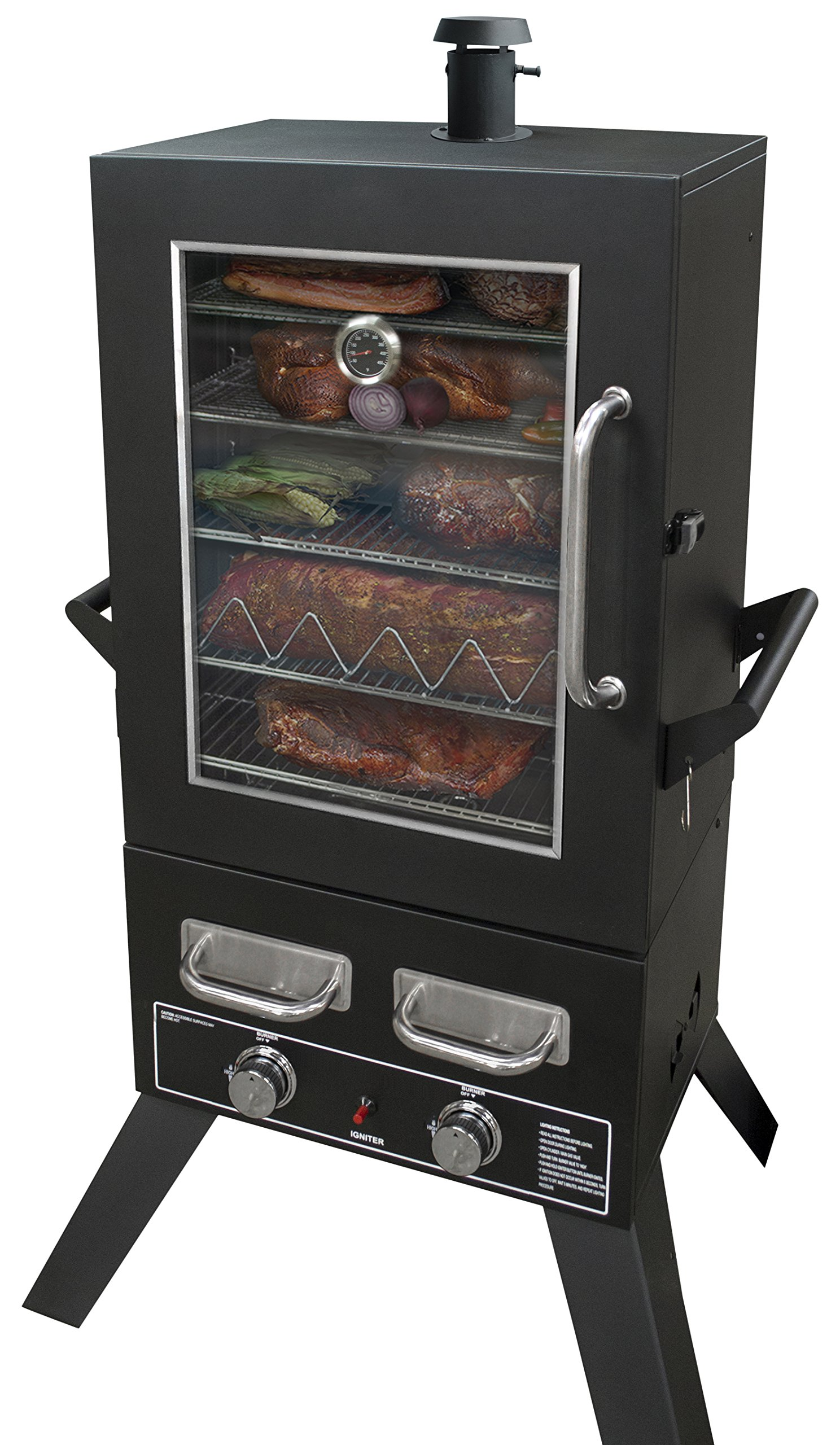 Smoke Hollow PS4415 Propane Smoker, 33'' x 24.5'' x 60'', Black by Smoke Hollow