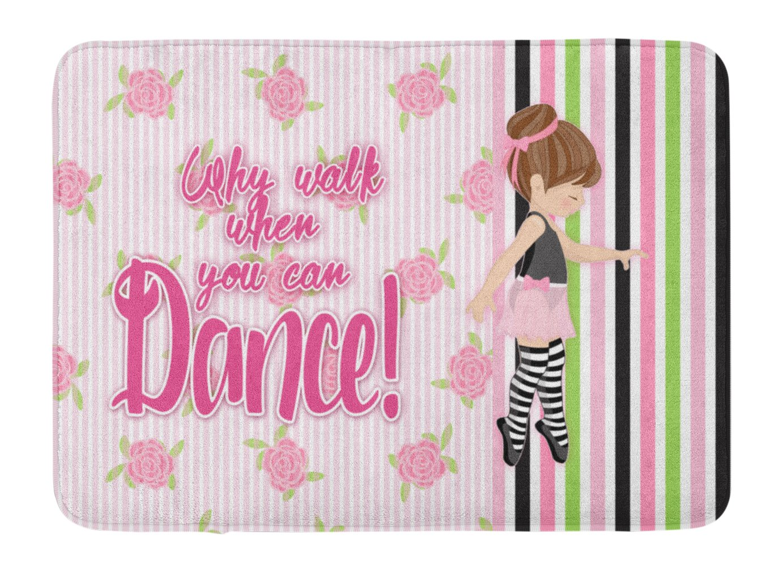 Caroline's Treasures Ballet Dance Stripes Brunette Floor Mat, 19 H x 27 W'', Multicolor