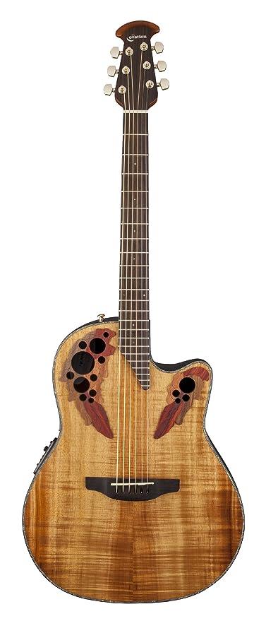 bd6821abf5 Amazon.com: Ovation CE44P-FKOA Acoustic-Electric Guitar, Figured Koa ...