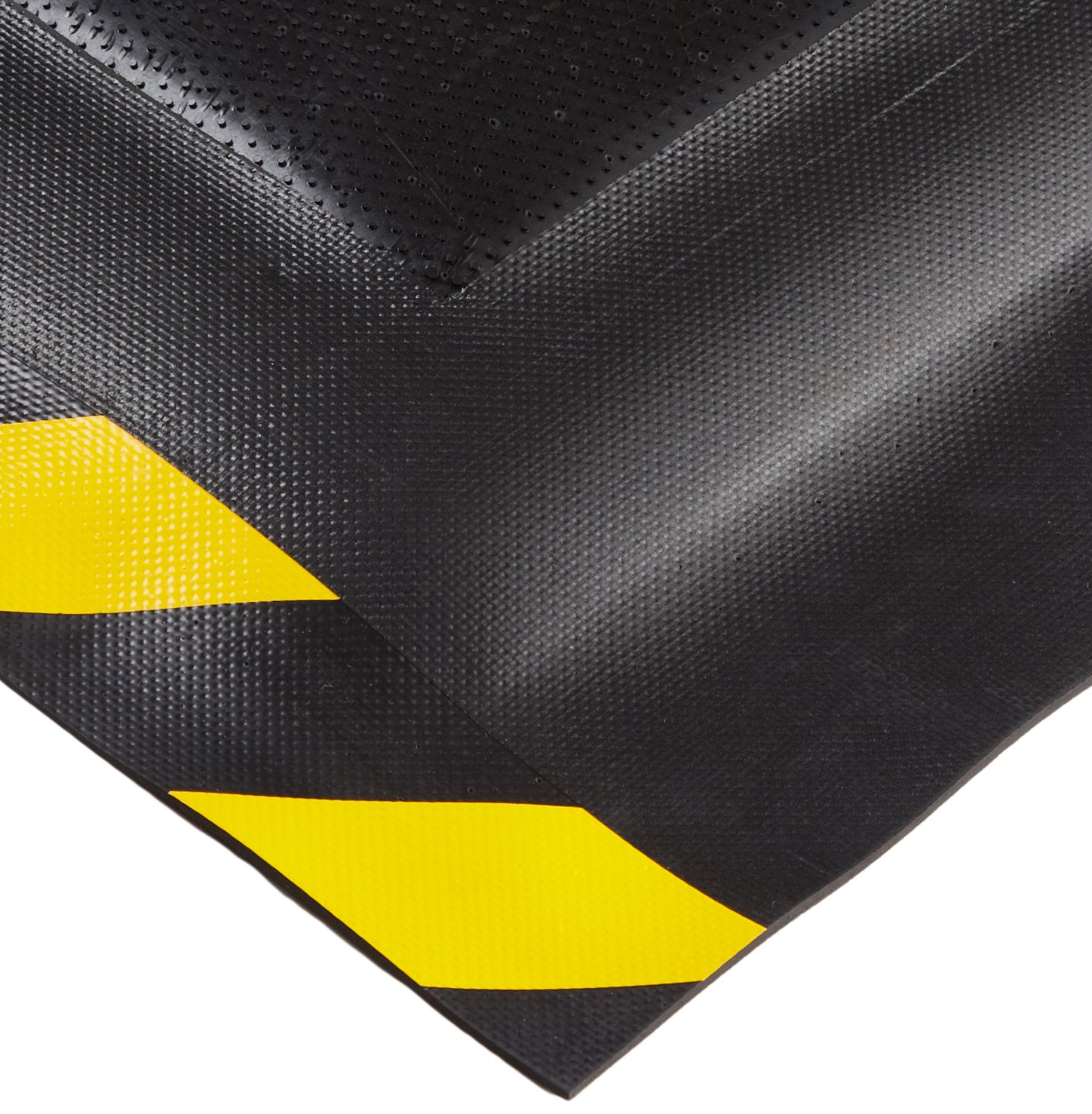Andersen 510 Nitrile Rubber HogHeaven Spill Control Mat with Yellow Striped Border, 5' Length x 3' Width x 7/8 Thick, For Indoor/Outdoor by Andersen B008BWQRNS