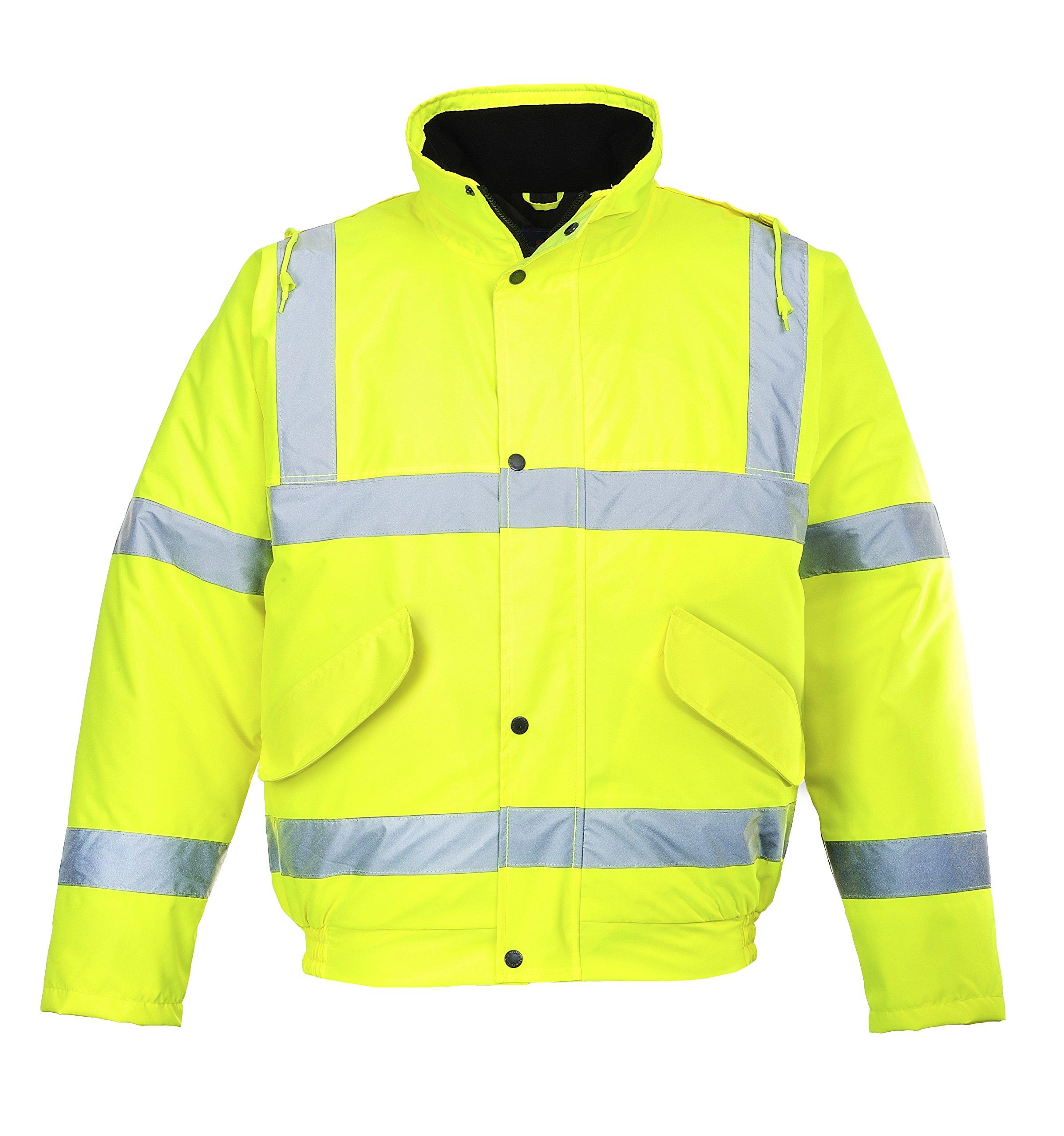 Portwest Workwear Mens Hi-Vis Bomber Jacket Yellow XXL