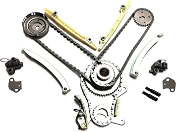 P Timing Chain Kit w//o Gears Timing Cover Gaskets Evergreen TKTCS5047NG Fits 99-08 Dodge Jeep Mitsubishi 4.7 SOHC 16V VIN J N