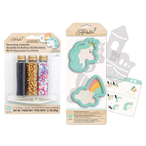 Amazon.com: Sweet Sugarbelle Unicorn Cookie Decorating Kit ...