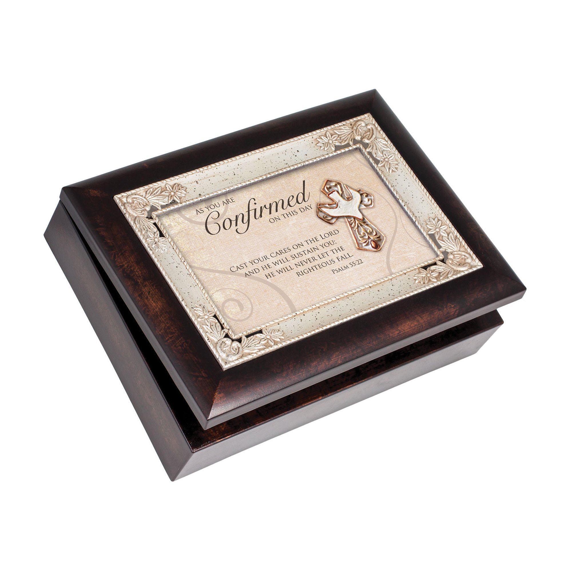 Cottage Garden Italian Inspired Inspirational Music Box - Confirmation Plays Amazing Grace
