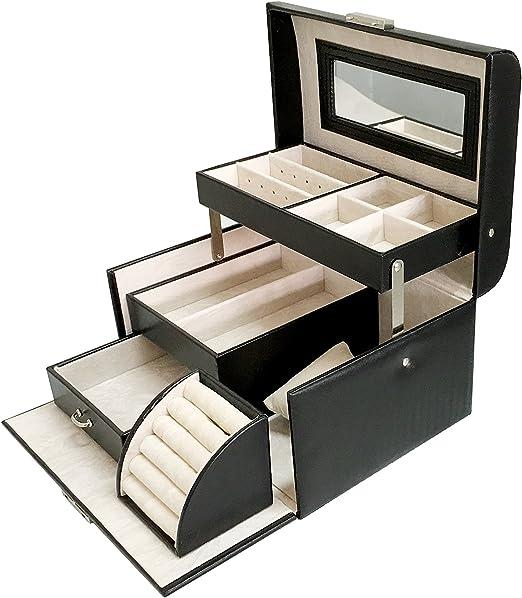 Sodynee® Cuir PU Noir Bijoux Display Box Plateau Organiseur ...