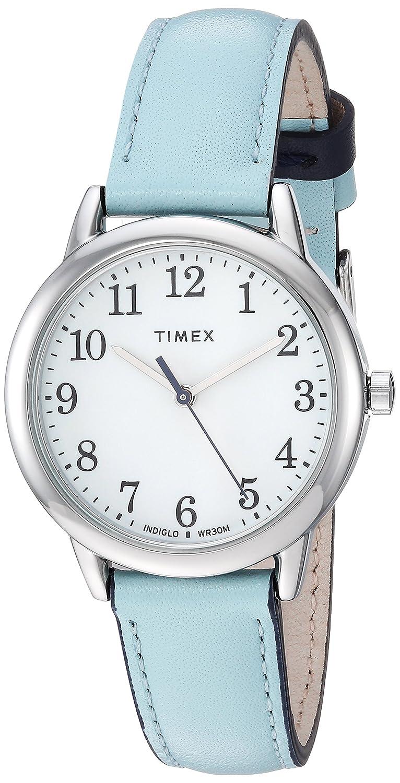 d48fb0dd8ea8 Amazon.com  Timex Women s TW2R62900 Easy Reader 30mm Blue Silver-Tone  Leather Strap Watch  Watches