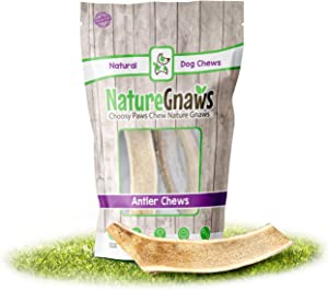 Nature Gnaws Deer Antlers for Small Dogs - Premium Natural USA Antler - Long Lasting Dog Chews for Aggressive Chewers - Mix of Split and Whole - 4-7 Inch