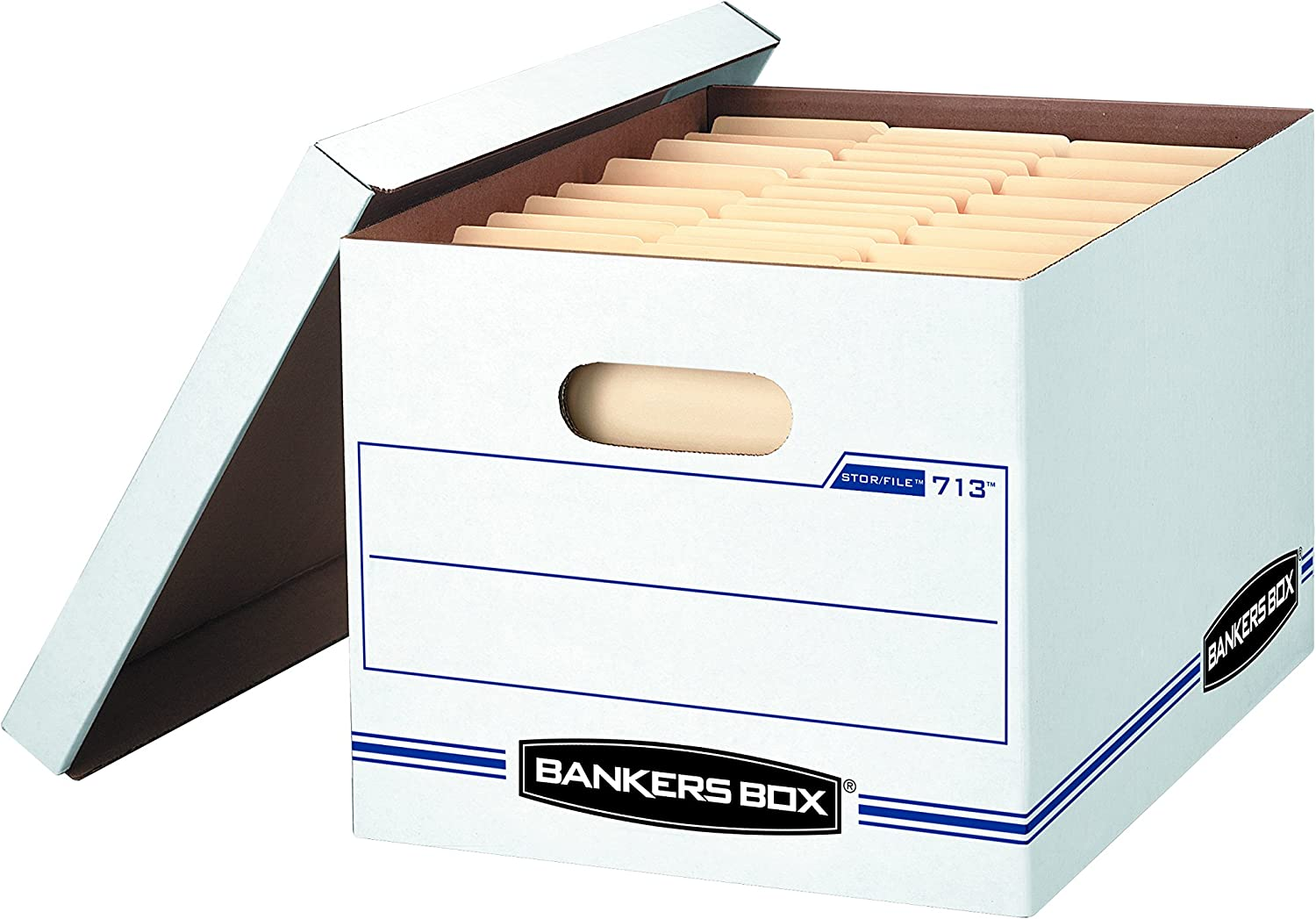 Bankers Box STOR/File Storage Boxes, Standard Set-Up, Lift-Off Lid, Letter/Legal, (0071303)