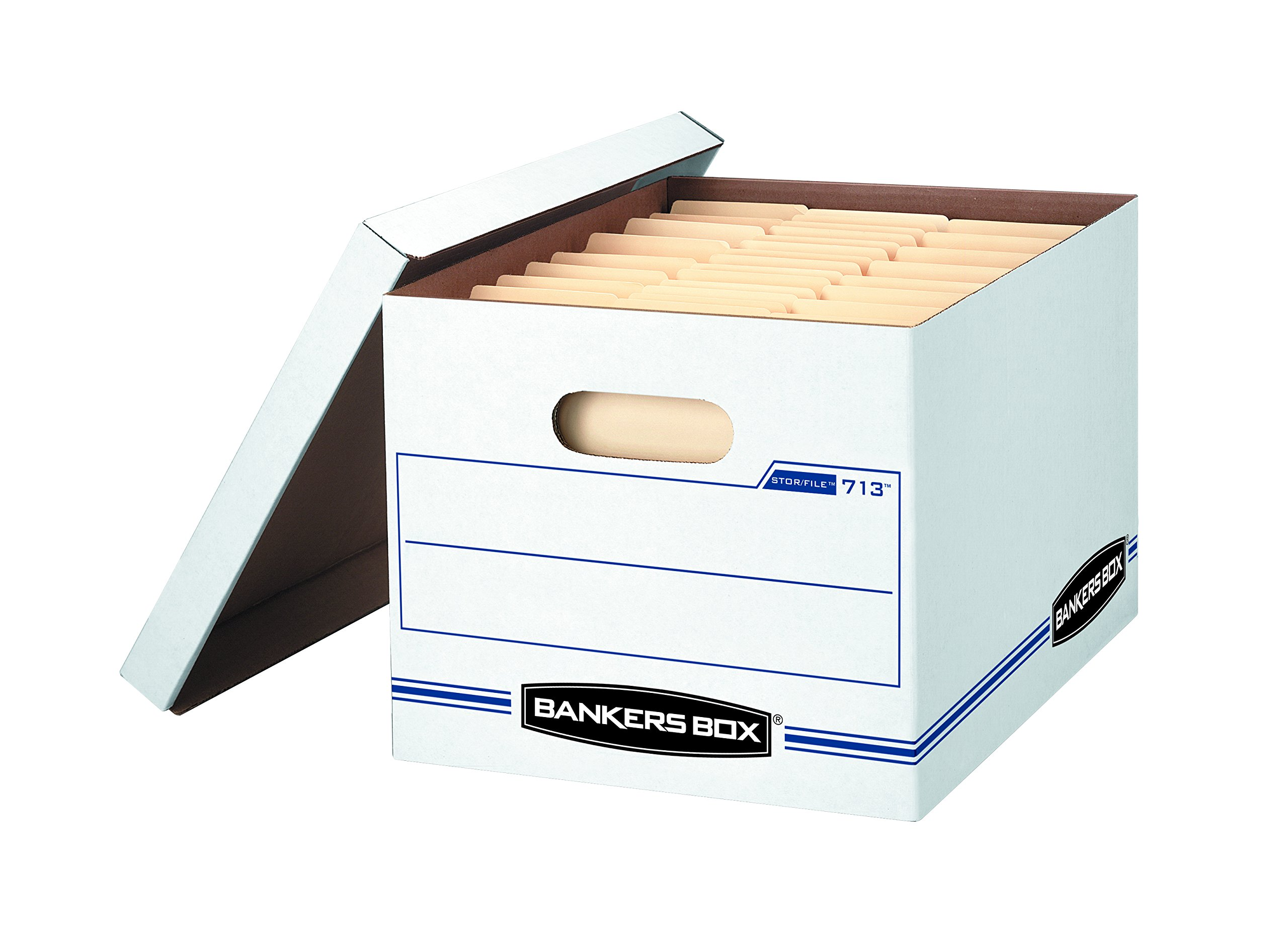Bankers Box STOR/FILE Storage Boxes, Standard Set-Up, Lift-Off Lid, Letter/Legal, 6 Pack (0071303) by Bankers Box