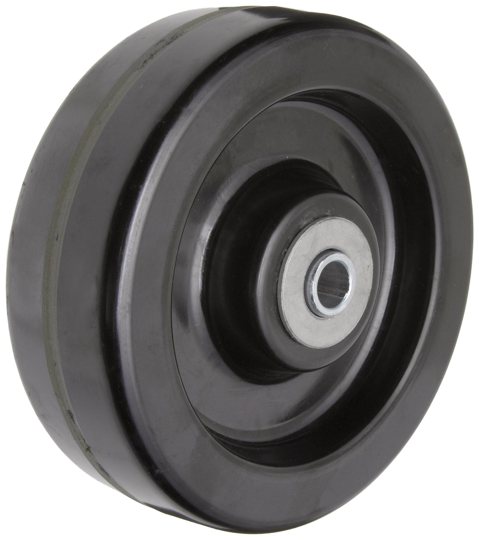 RWM Casters DUR-0620-08 6'' Diameter X 2'' Width Durastan Phenolic Wheel with Straight Roller Bearing, 1200 lbs Capacity, 1/2'' Axle Diameter