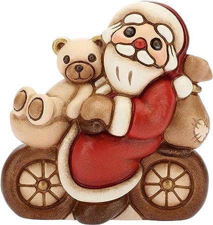 Natale Thun.Thun Babbo Natale In Bicicletta Formato Piccolo Ceramica 6 9 Cm H Amazon It Casa E Cucina