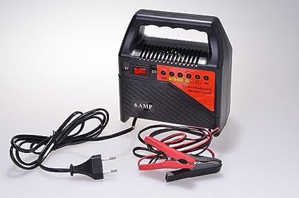 Cargador de baterías de 6 y 12 V para Auto, Moto, Barco de ...
