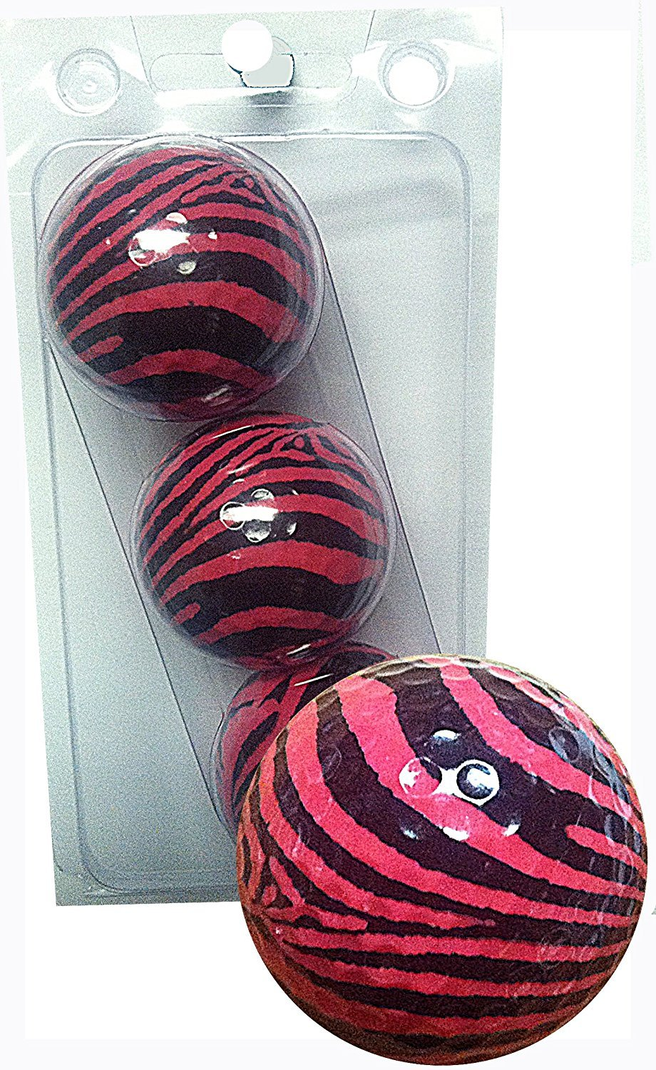 GBM Golf Animal Novelt 3 Ball Sleeve, Pink Zebra [並行輸入品] B071JKB8RH