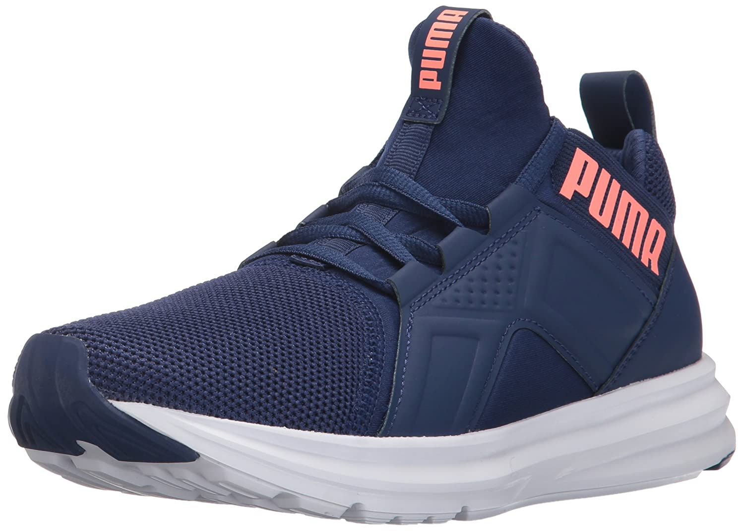 PUMA Women's Enzo Mesh Wn Sneaker B01MQXQMHL 10.5 M US|Blue Depths-nrgy Peach