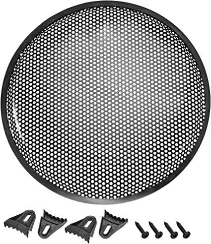 PAIR 12 INCH STEEL SPEAKER SUB SUBWOOFER GRILL MESH COVER W// CLIPS SCREWS