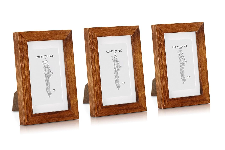 Amazon.de: Classic by Casa Chic Echtholz Bilderrahmen 10x15 mit ...