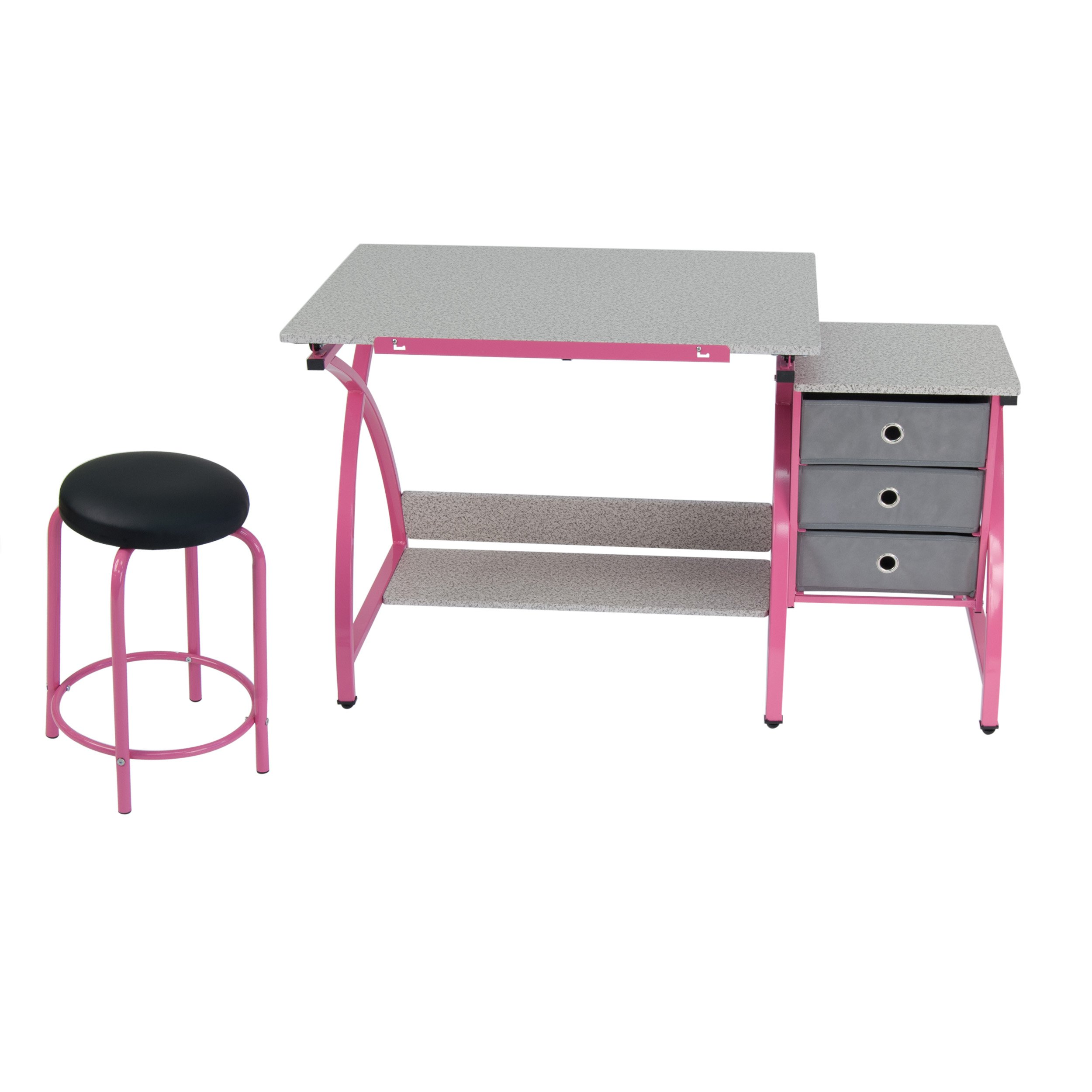 Comet Center with Stool in Pink / Spatter Gray by SD Studio Designs (Image #5)